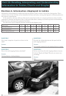 Tables, Charts And Graphs Worksheet With Answer Key - Unit 20, Maths & English For Automotive