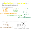 Taylor And Maclaurin Powers Series Worksheet With Answers - Math 141e Calculus And Analytic Geometry With Engineering Applications, Ii, Pennsylvania State University
