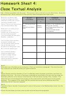Close Textual Analysis Worksheet
