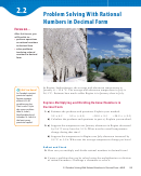 Decimal Form Of Rational Numbers Worksheet - Chapter 2.2, Mathlink 9, Mcgraw-hill Ryerson School