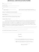 Medical Certification Form For Electric Service