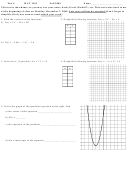 Math Test Worksheet - Mat 1101, Augusta Technical College, Fall 2009