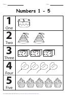 Black & White Birthday 1-5 Numbers Chart
