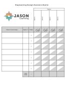 Engineering Design Decision Matrix Chart - Jason Learning
