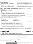 Form Il-w-4 - Illinois Withholding Allowance Worksheet