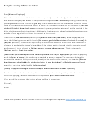 Faculty Reference Letter Sample