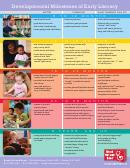 Developmental Milestones Of Early Literacy Chart