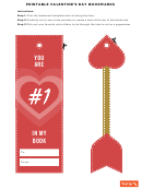 Valentine's Day Bookmark Template