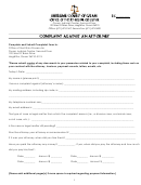 Complaint Against An Attorney Form - Supreme Court Of Guam, Office Of The Ethics Prosecutor