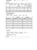 physical activity log sheets