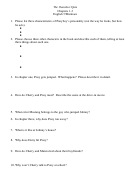 The Outsiders Quiz Worksheet - English 7/marinace, Chapters 1-3