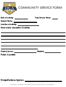 Community Service Form - Oca