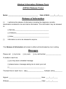 Medical Information Release Form - Hipaa Release Form