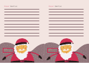 Lined Santa Writing Paper
