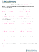 Writing Linear Equations Worksheets With Answers