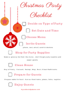 Christmas Party Checklist Template