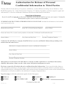 Form Gr-67809 - Aetna Authorization For Release Of Personal Confidential Information To Third Parties