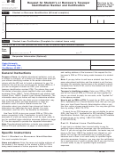 Form W-9s - Request For Student's Or Borrower's Taxpayer Identification Number And Certification