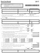 Wisconsin Department Of Revenue Rent Certificate - 2017