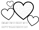 Color Your Heart Out Valentine Coloring Sheet