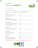 Healthy Party Sign-up Sheet