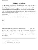 Letter Of Assurance Template