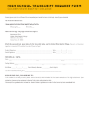 High School Transcript Request Form - Golden State Baptist College Printable pdf