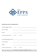 Mortgage Payoff Information Form - The Epps Law Group