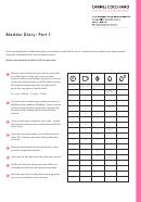 Bladder Diary Template - Carmel Cocchiaro Obstetrician & Gynaecologist