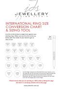 International Ring Size Conversion Chart & Sizing Tool - Jewellery Design Studio