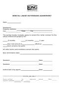 Rental Lease Extension Agreement Template - Long Realty Sms Properties