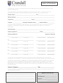 Letter Of Permission - Crandall University