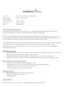 Application Support Engineer Job Description Template