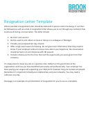 Resignation Letter Template - Brook Recruitment