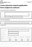 Lease Extension Request Application Form (subject To Contract)