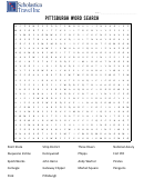 Pittsburgh Word Search Puzzle Template With Answers