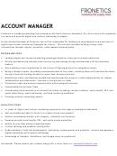 Sample Account Manager Job Description Template
