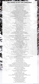 List Of 100 Things To Do This Christmas