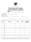 Volunteer Hours Log Sheet Time Talent And Treasure - St.louis Catholic School