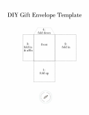 Diy Gift Envelope Template
