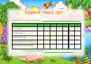 Behaviour Reward Chart For Kids