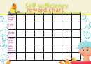Self-sufficiency Reward Chart Template For Kids