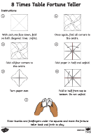 8 Times Table Fortune Teller Template