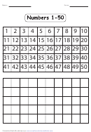 Numbers Chart 1-50