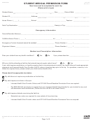 Form Ccf-455 - Student Medical Permission Form - Ccsd Clark County School District
