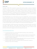 Office Manager Job Description Template