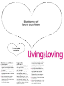 Buttons Of Love Cushion Cupcake Rosette Template
