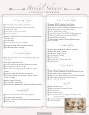 Bridal Shower Planning Checklist Template