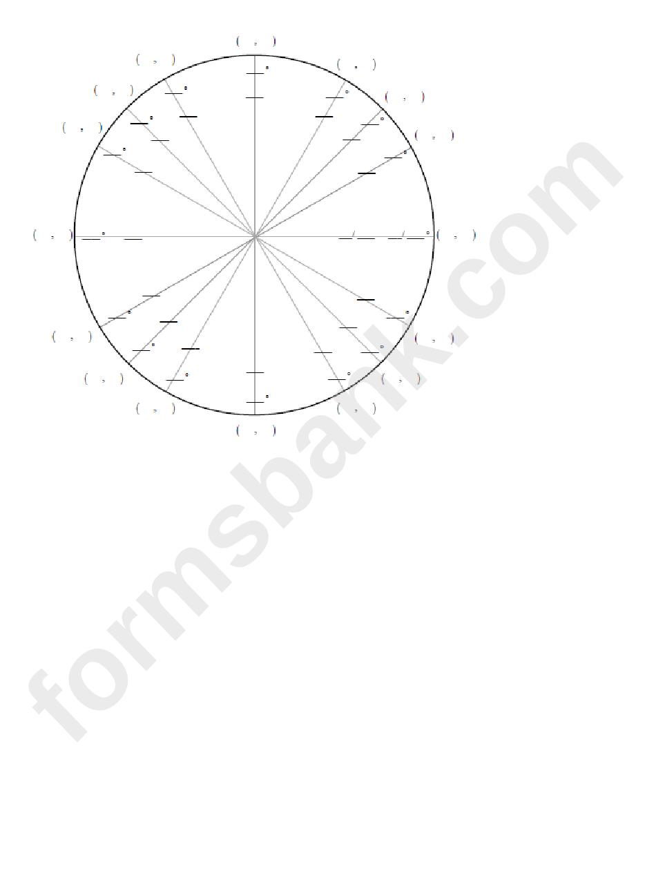 Circle Graph Template
