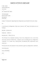 Sample Letter Of Complaint And Interview